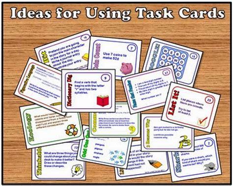task cards task card ideas