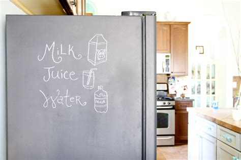 chalkboard paint in fridge diy painting your fridge with chalkboard paint the