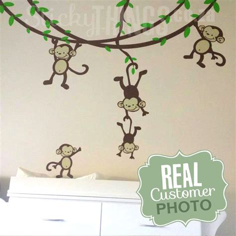 nursery monkey wall decals monkey nursery wall sticker stickythings co za