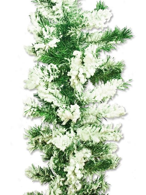 flocked garland flocked antarctic thick pine branch garland with snow 2