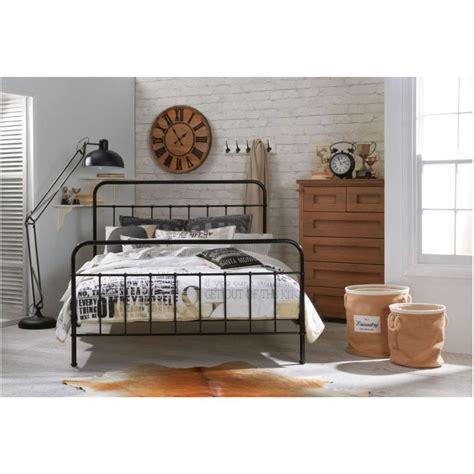 black metal bed frame king king size metal bed frame in black buy bedroom
