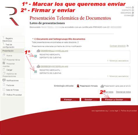 registro mercantil de bienes muebles envio por lotes de cuentas y libros registro mercantil y