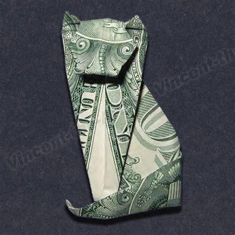 money origami cat money origami cat dollar bill made with 1 00