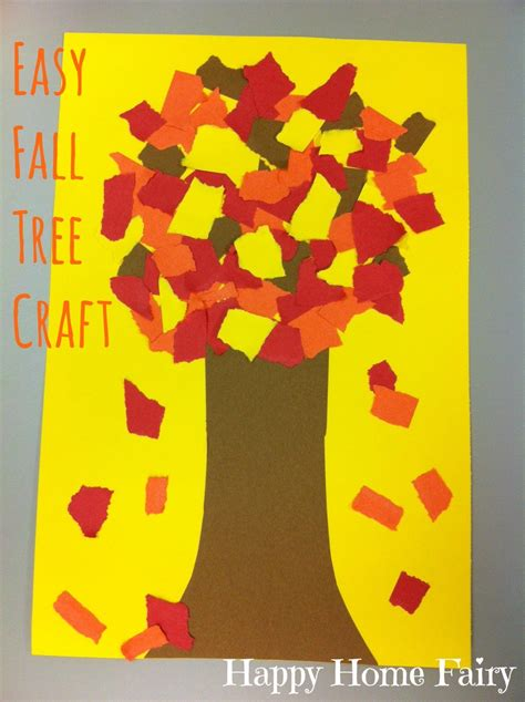 easy fall crafts for easy fall tree craft happy home