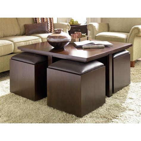 coffee table with nesting ottomans 21 smart space saving ideas ultimate home ideas