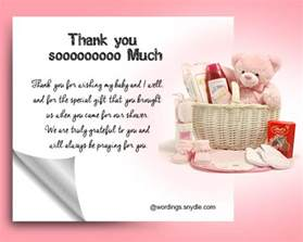 thank for gift thank you messages for baby shower messages and gifts