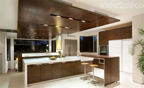 design de grande cuisine bois et blanc cass 233 d inspiration d 233 co design