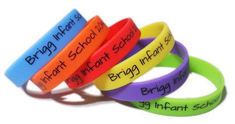custom rubber st company custom printed size wristbands junior infant size