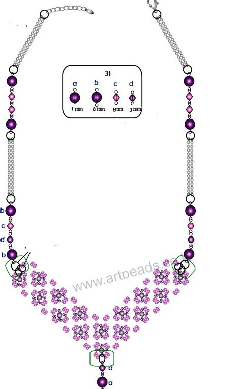 bead necklace tutorial patterns necklace pattern schema magic seed bead