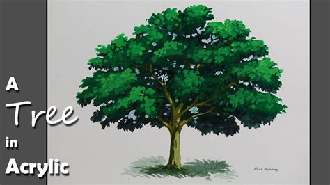 acrylic paint trees acrylic painting how to paint a tree in acrylic step