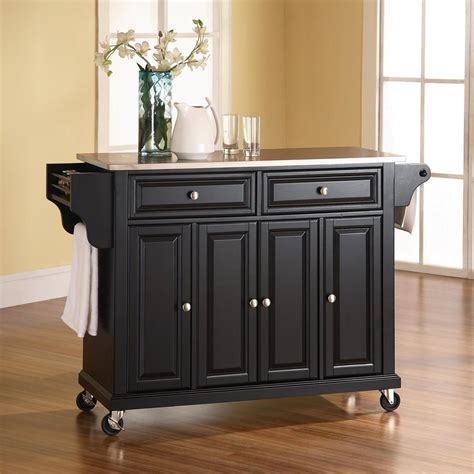 lowes kitchen islands shop crosley furniture black craftsman kitchen island at