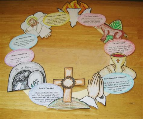 bible easter crafts for wee miracles make an easter story wreath erin
