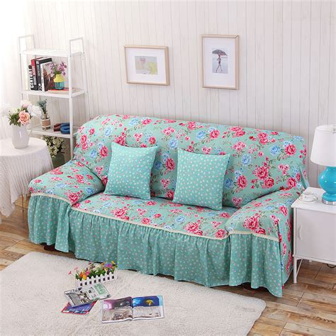 floral sofa slipcover cotton polyester modern plaid sofa towel flower floral