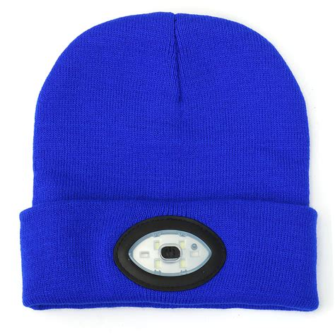 knit hat with led lights sports running 6 led beanie knit hat rechargeable cap