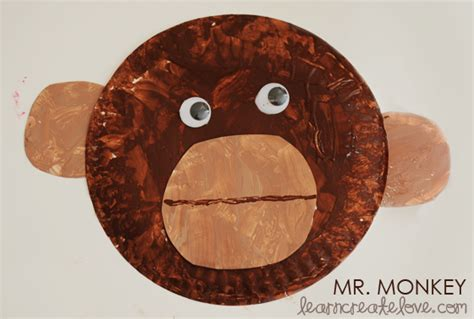 monkey paper plate craft buttons and paint obsessions distractions monkey
