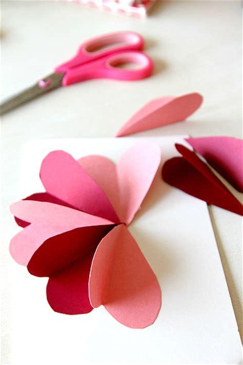 paper craft work tutorial diy flower by hearts card tutorial momdot