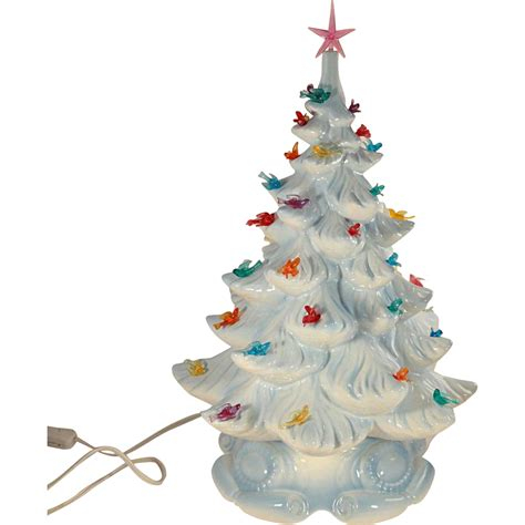mini white tree small and cheerful tabletop trees