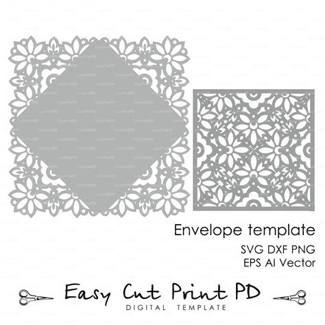 lace templates card wedding invitation card envelope template lace folds cover