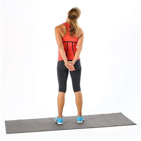 standing desk lower back desk stretches to relieve neck and shoulder tension