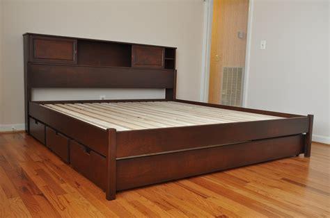 bed platform with drawers bedroom modern platform bed frame teak wood
