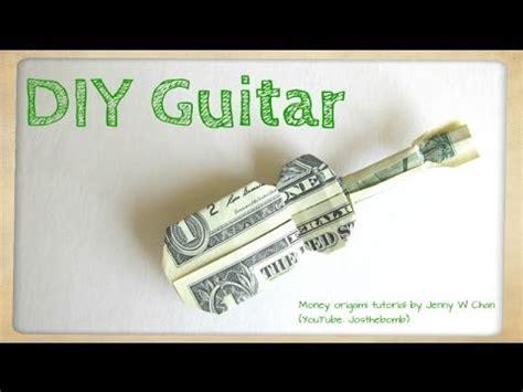 money origami guitar diy how to fold money origami guitar 1 one dollar