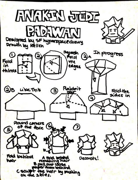 how to fold origami anakin skywalker search results origami yoda page 105