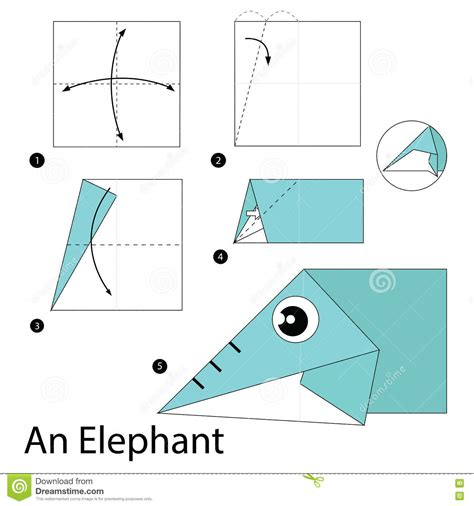 how to make an origami elephant step by step step by step how to make origami an elephant