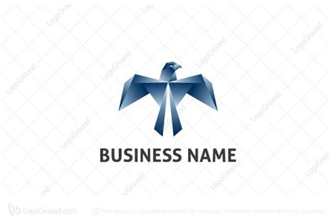 origami bird logo origami eagle logo