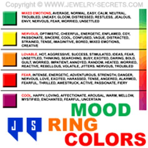 colors and mood chart the real mood ring colors jewelry secrets
