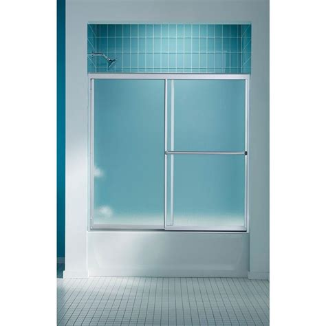 home depot bathtub shower doors sterling finesse 59 5 8 in x 58 5 16 in frameless