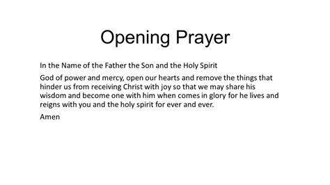 prayer for opening opening prayer 28 images a prayer service for a