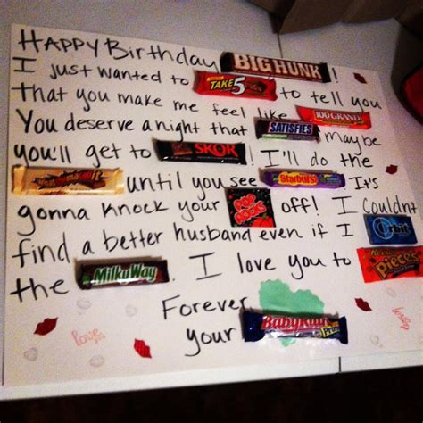 card ideas for husband for the in your that likes things a sweet