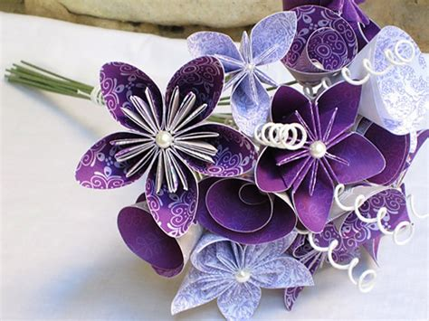 origami wedding bouquet origami wedding ideas cardinal bridal