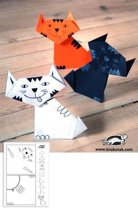 kitten origami 25 beste idee 235 n origami op origami