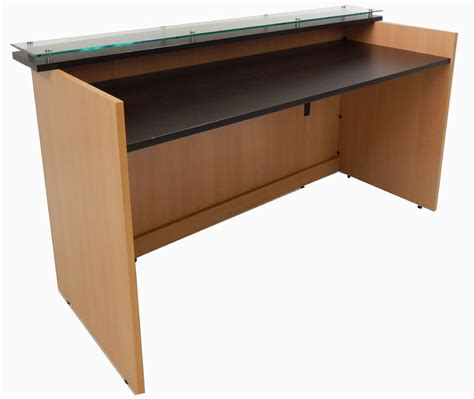 standing desk heights custom standing height glass top reception desk series 6