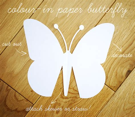 craft paper butterfly paper butterfly template