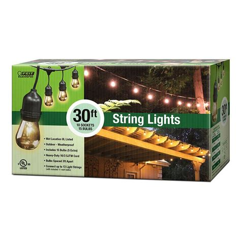 electric patio lights feit electric 10 socket outdoor string light 72041 the
