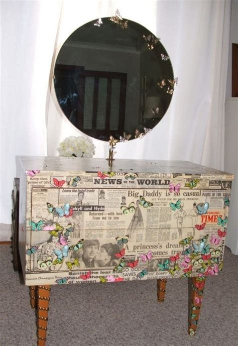 decoupage newspaper on wood 10 images about decopatch furniture on