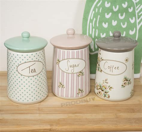 storage canisters kitchen ceramic tea coffee sugar sets the coffee table