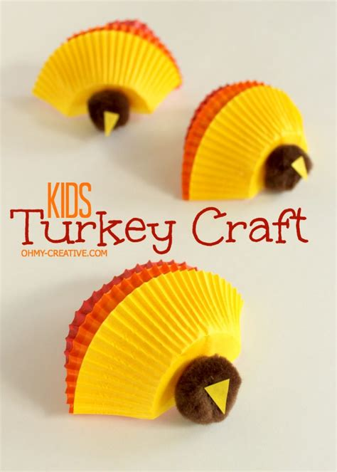 how to make a turkey craft project thanksgiving turkey craft oh my creative