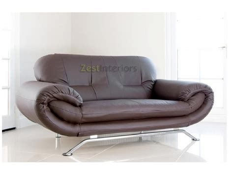 brown leather two seater sofa florence brown 2 seater faux leather modern sofa