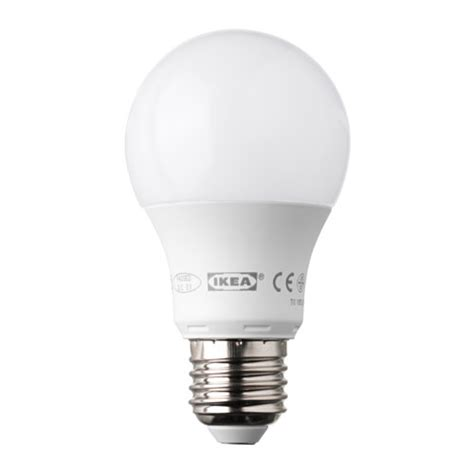 led light bulbs e27 ledare led bulb e27 400 lumen dimmable globe opal white ikea