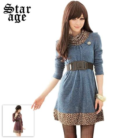 knit dresses for fall brand korean style fall fashion leopard knit dresses