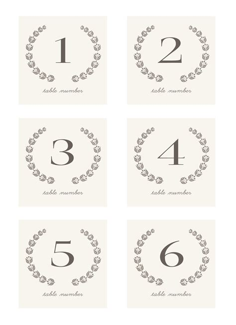 number templates for card 7 best images of table numbers free printable template