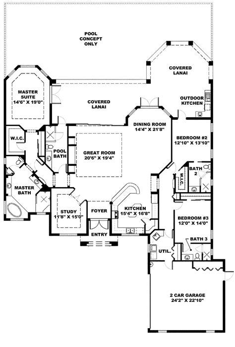 kitchen house plans image detail for front kitchen mediterranean home hwbdo68775 florida house plan house