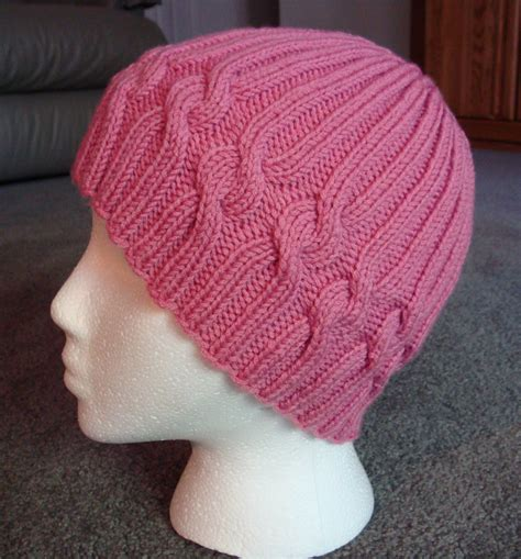 knitted chemo cap patterns free s knitting korner free ribbons of hat pattern