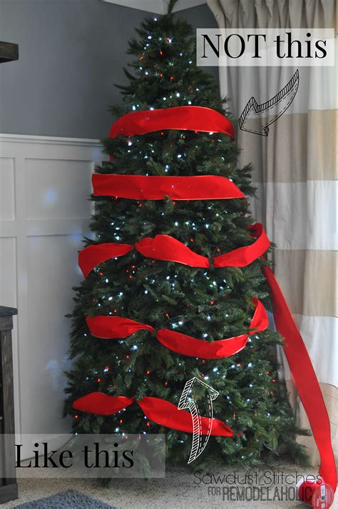 how to decorate real tree remodelaholic how to decorate a tree a