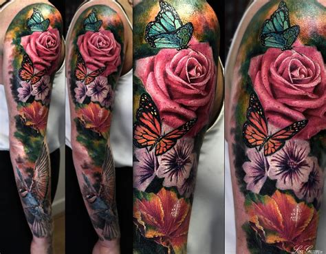 flower garden tattoos best 25 realistic sleeve ideas on sea