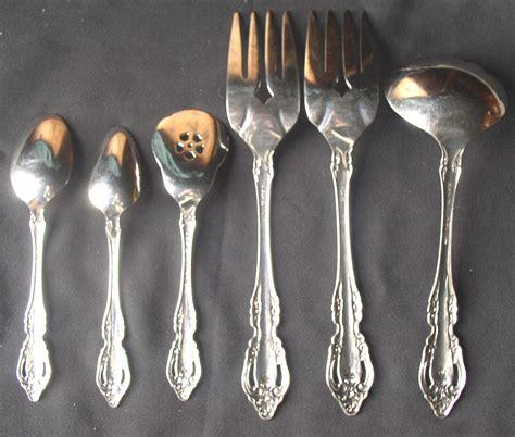 silverware rubber st 6 pcs oneida community stainless brahms flatware