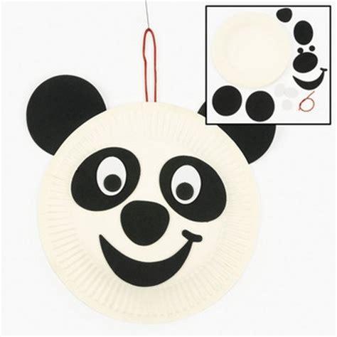 panda paper plate craft panda paper plate craft kit set of 12 birthdays